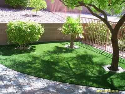 normal fake grass synthetic lawn backyard las vegas nevada las vegas